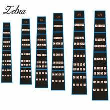 Zebra Violin Fretboard Scale Stickers Fret Marker Labels Fingering Chart For 1/2 1/4 3/4 4/4 1/8 1/10 Violin