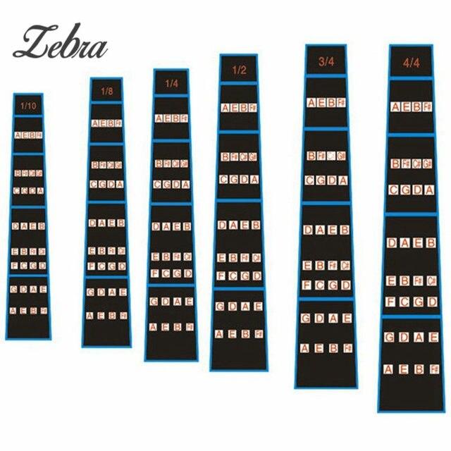 Wonderbaarlijk Zebra Viool Toets Schaal Stickers Fret Marker Labels Vingerzetting JJ-75