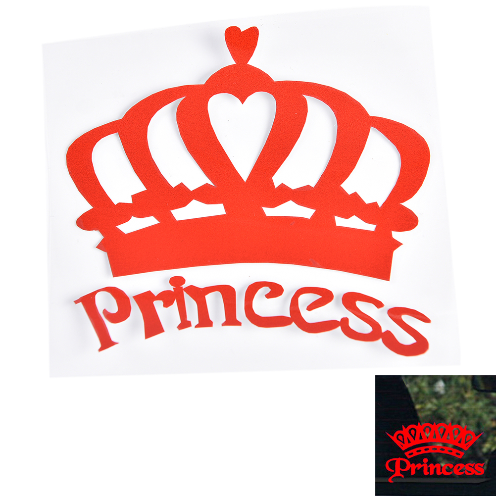 Motorcycles Princess Baby On Board Car Sticker Elegant Crown Decal - Car sticker decal for girlsgirl motorcycle promotionshop for promotional girl motorcycle on