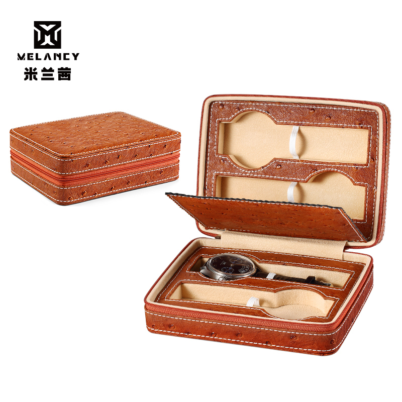 Hohe qualität gewohnheit logo uhr strap verpackung leder geschenk boxen 4 uhren box-in Uhrenboxen aus Uhren bei  Gruppe 1