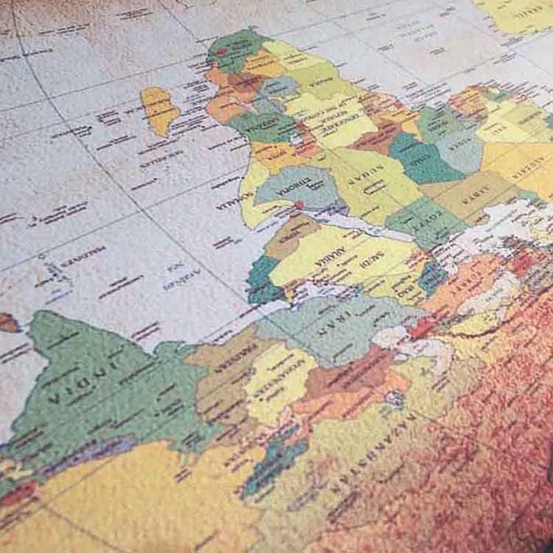 Jeu tapis de souris vieille carte du monde grand tapis de clavier tapis de bureau d'ordinateur portable en caoutchouc marron + tissu 90x40x0.2Cm