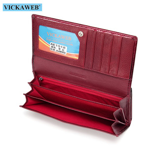 Image 5 - VICKAWEB Long Thick Wallet Female Fashion Alligator Purse Women Genuine Leather Standard Wallets Hasp womens wallets and purses