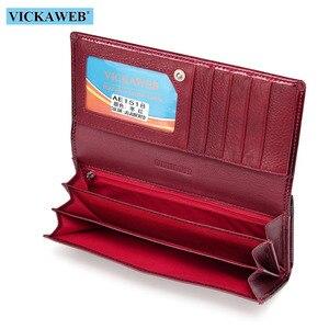 Image 5 - VICKAWEB ロング厚い財布女性ファッションワニ財布の女性の本革スタンダード財布ハスプ女性の財布や財布