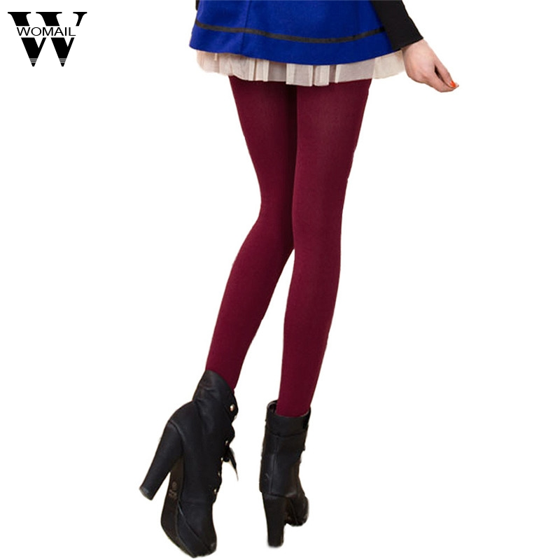 Amazing Solid Color Autumn Winter High Elastic Lady's   Leggings   Warm Pants for Women