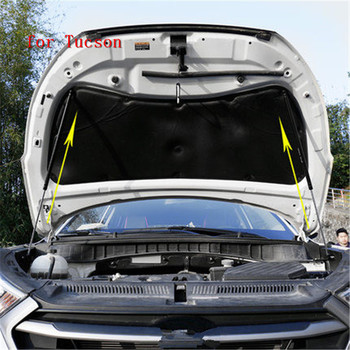 2PCS Automobile hood hydraulic rod engine cover support hydraulic rod for Hyundai Tucson 2015 2016 2017 2018 Car styling