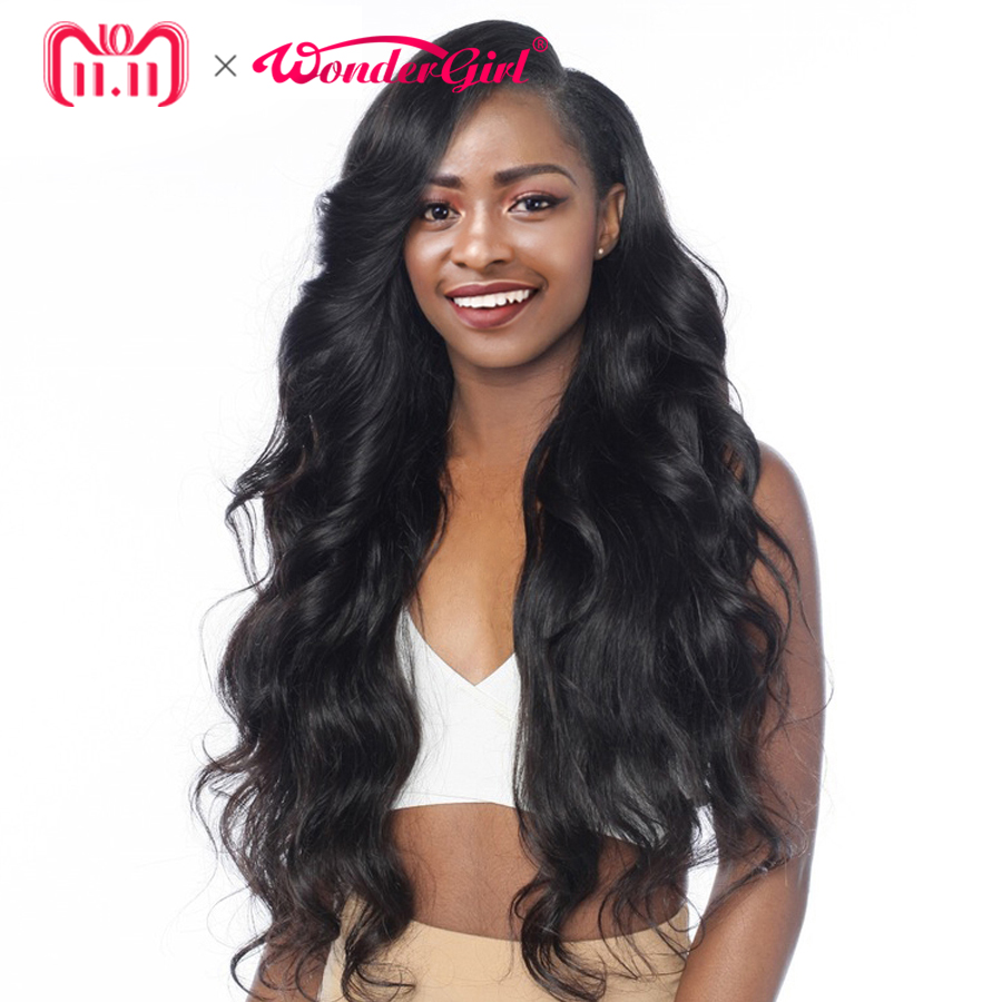 Remy Pre Plucked 360 Lace Frontal peruk Peruvian Body Wave 150% Täthet Wonder Girl Lace Front Mänskliga Hårperor För Women Black