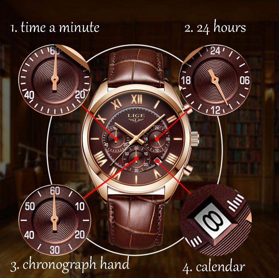 HTB1mq7CPbrpK1RjSZTEq6AWAVXaf LIGE Watch For Men Top Brand Luxury Waterproof 24 Hour Date Quartz Clock Brown Leather Sports WristWatch Relogio Masculino 2019