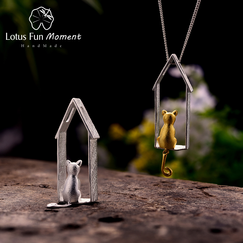 Lotus Fun Moment Real 925 Sterling Silver Handmade Fashion Jewelry Creative Cute Cat Design Pendant without Necklace for WomenLotus Fun Moment Real 925 Sterling Silver Handmade Fashion Jewelry Creative Cute Cat Design Pendant without Necklace for Women