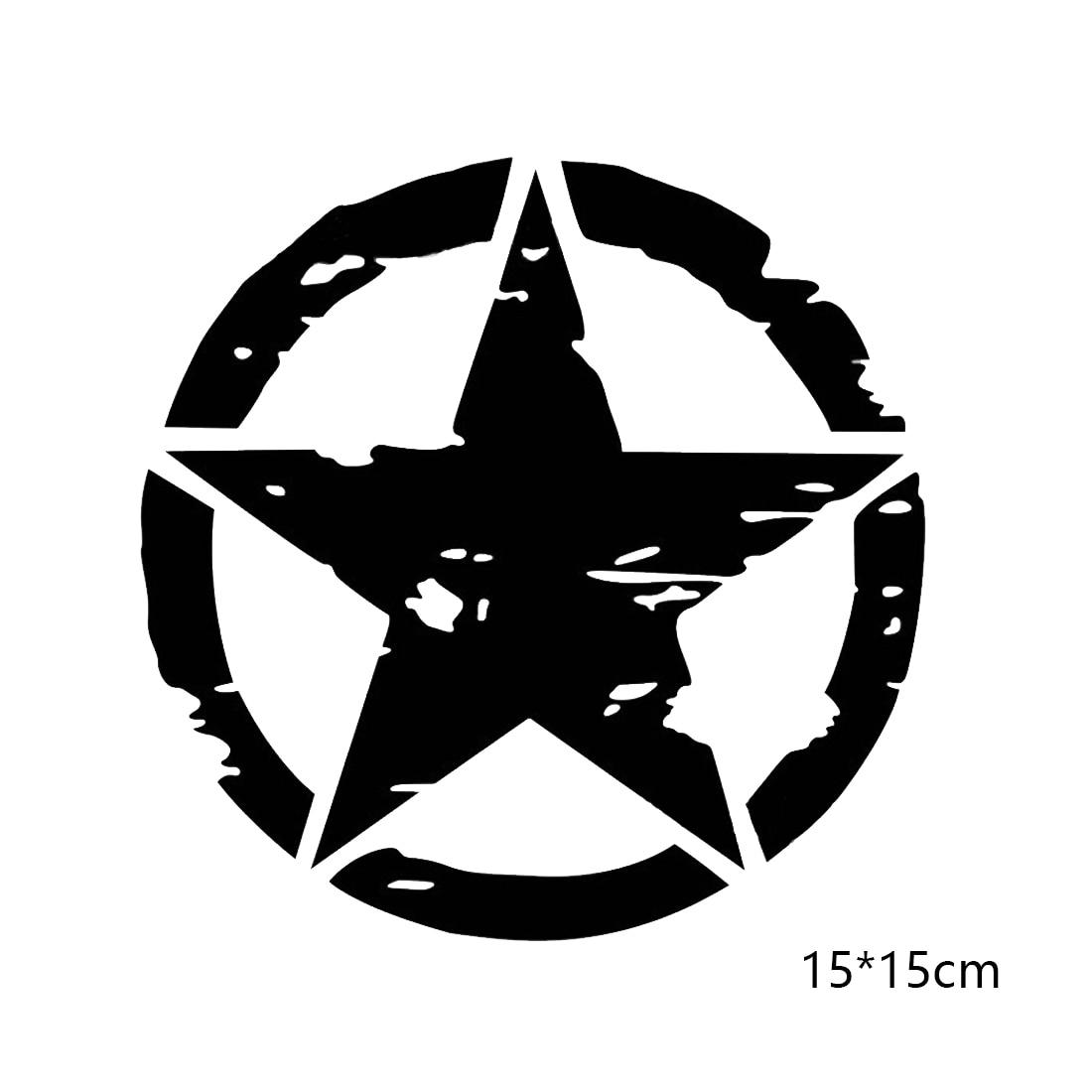 Decal Sticker PINK Army Jeep Distressed Star Vinyl