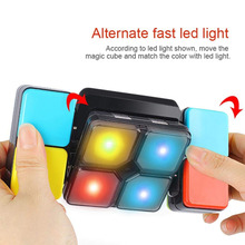 Variety Music Magic Cube Changeable Intelligent Puzzle Led Light for Teenagers,Electric Rubiks Infinite Box children