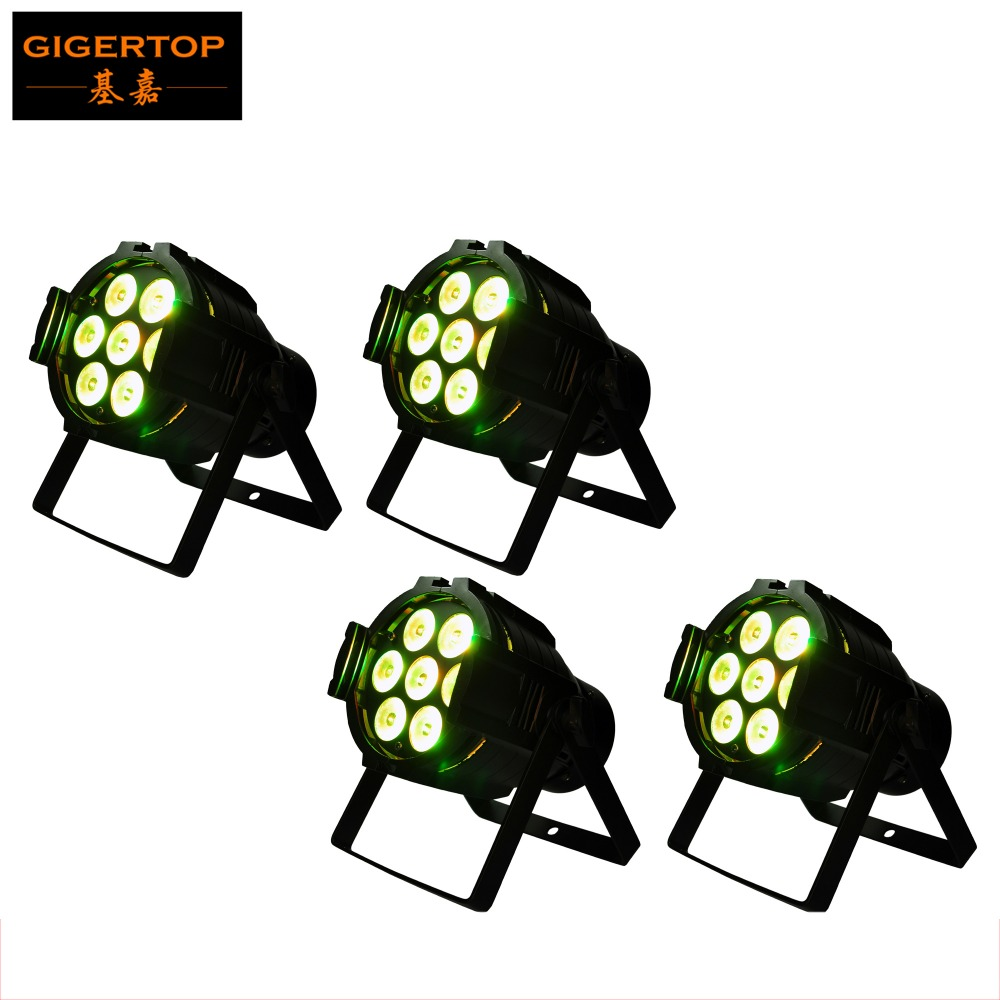 Free Shipping 4pcs/lot TIPTOP 7x10W 4IN1 Led Par Light RGBW Aluminum Case DMX512 Stage Lighting 7 Channels Led Par Cans 90V-240V free shipping 4pcs lot stage light 20w led water wave light