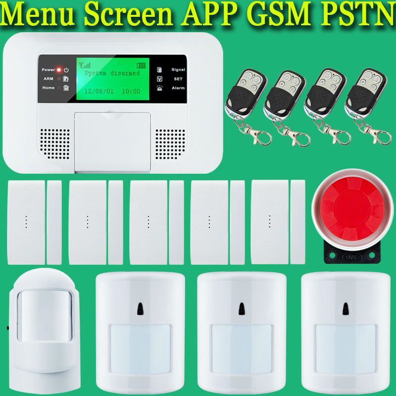 Home Voice Security Built-in Antenna Wireless GSM Alarm System with PIR Motion Sensor wireless alarm