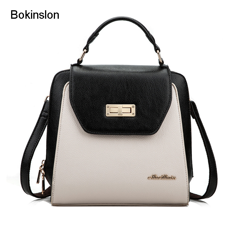 Bokinslon Womens Small Backpacks Multifunctional Ladies Bag Fashion PU Leather Women Backpack Designers Brand bokinslon backpacks brand womens fashion classic retro women backpack bag college wind pu leather school girl backpack