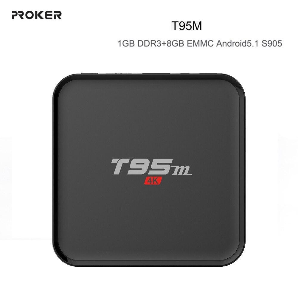 ФОТО TV BOX 1GB RAM 8GB Amlogic S905 PROKER T95M Android TV Box HDMI H.265 4K WIFI Bluetooth 1000M LAN IPTV Media Player