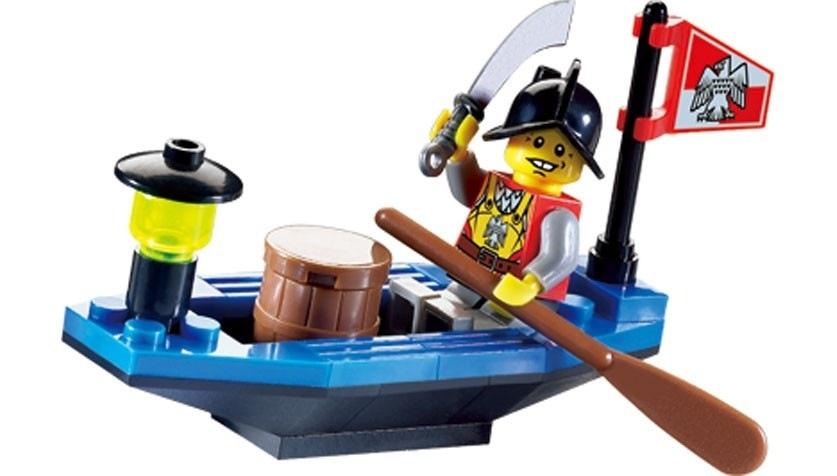 ENLIGHTEN Knights Pirates Series Treasure Transport Boat Building Blocks Set Kids Bricks  Toy Compatible With Legoe treasure in cage ru bun lock children puzzle toy building blocks