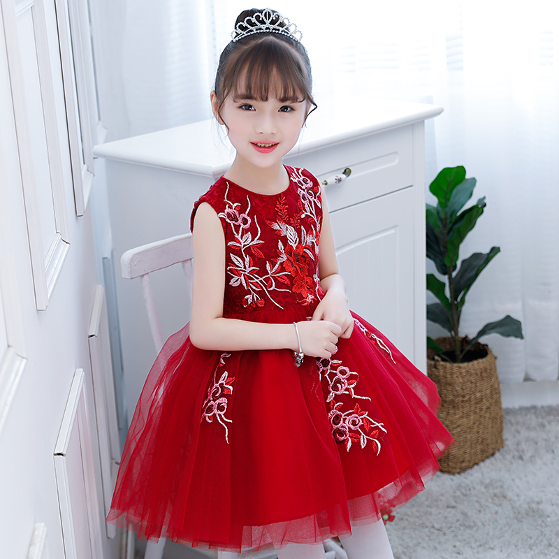 все цены на High quality girl princess dress child show flower girl birthday piano show evening dress онлайн