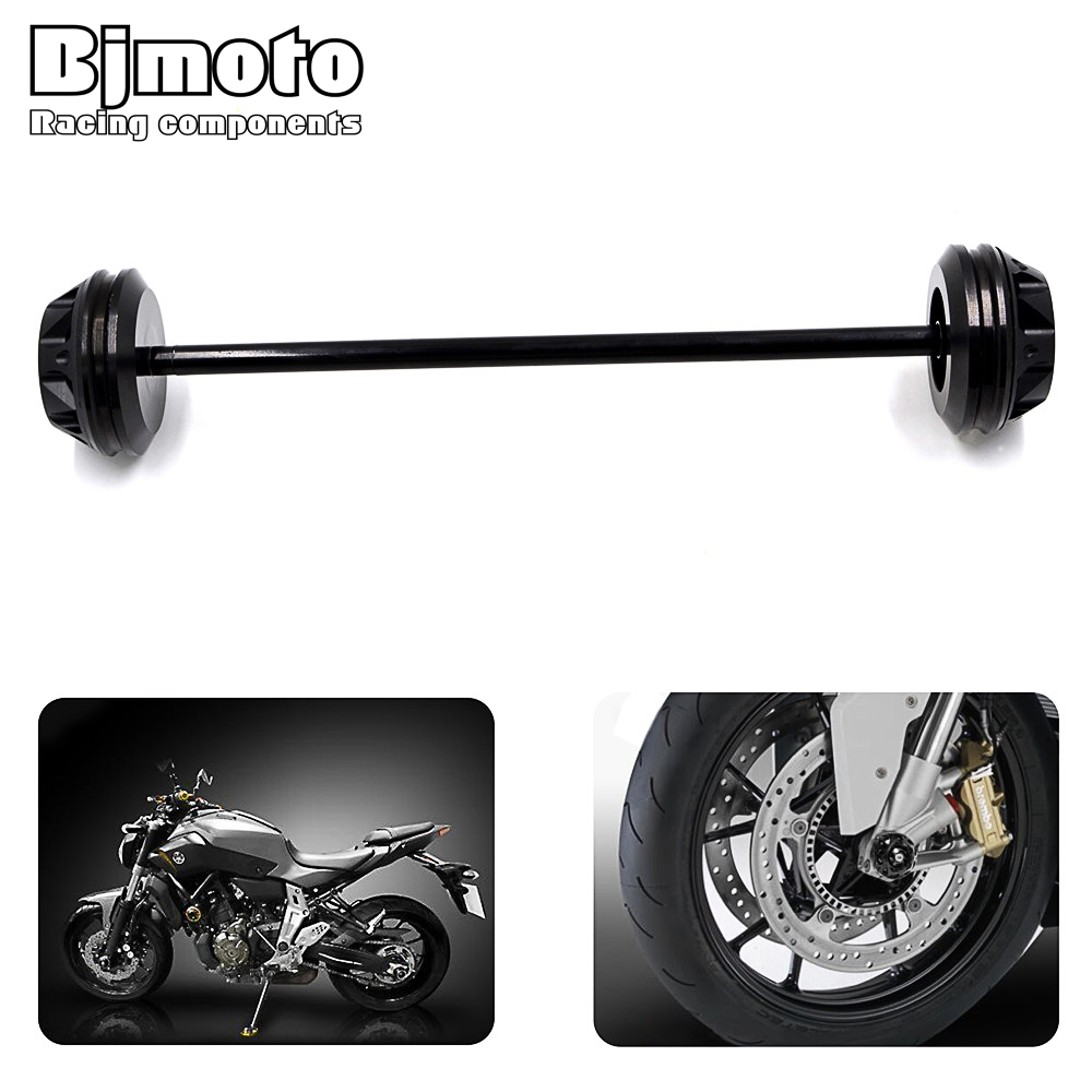 For YAMAHA MT-07 MT07 2013 2014 2015 Motorcycle CNC Aluminum Front  Axle Fork Crash Slider Swingarm Spools Cap Stand Screw new style balance shock front fork brace for yamaha mt07 fz07 mt 07 fz 07 2014 2015 2016 motorcycle accessories cnc aluminum