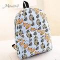2016 Backpack for Teenagers Girls Cartoon Owl Fox Boy Student Shoulder Bag Travel Satchel Canvas Casual Women Laptop Brand Male