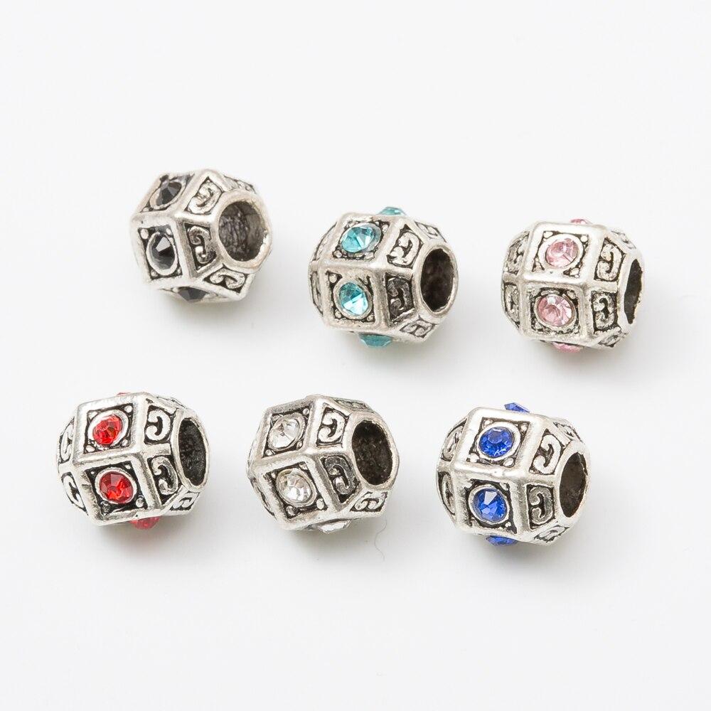 30pcs Fit Pandora Charms Original Bracelet Spacer Charm Beads Jewelry Making DIY js1170