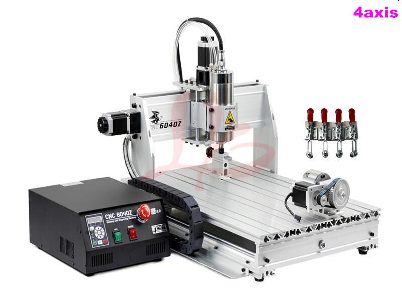 6040 4 Axis Mini CNC Milling Lathe Machine Limit Switch 1.5KW Spindle Metal 3D Engraving Machine