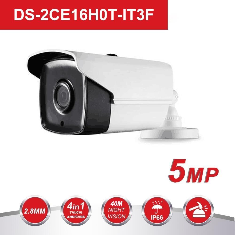HIK 5MP TVI/AHD/CVI/CVBS 4 IN 1 Analog Bullet Camera DS-2CE16H0T-IT3F 5Megapixel High-Performance EXIR CCTV Camera System