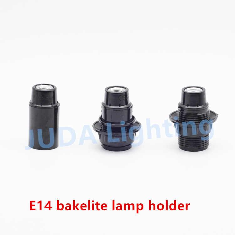 בעל מנורת שקע E27 E14 מנורת בסיס מנורת פלסטיק Bakelite מחזיק עם חוט כבל עבור הנורה נברשת led תליון אור אבזרי