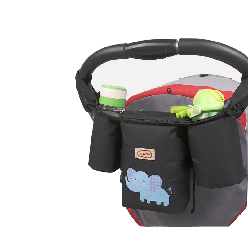 1X Baby trolley storage bag organizer stroller buggy pram cup holder b`US