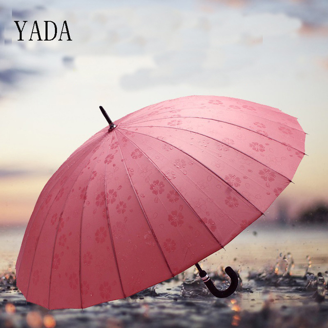 """""""YADA""""-24 кости большой зонт Длинные Цветы воды автоматический зонт для Для женщин Для мужчин анти-УФ Защита от солнца дождя зонт-трость YS314"""