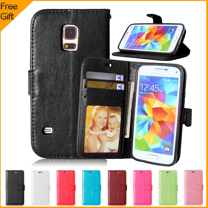 Luxury Wallet PU Leather <font><b>Case</b></font> Cover For <font><b>Samsung</b></font> Galaxy <font><b>S5</b></font> <font><b>mini</b></font> S5mini <font><b>Case</b></font> Cover <font><b>Flip</b></font> Cell Phone Protective Back Cover Stand image