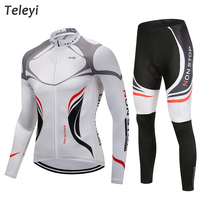 Pro Team Cycling Jersey Long Sleeve Uniforms Set Ropa Ciclismo Jersey MTB Bike Shirts Pad Pants