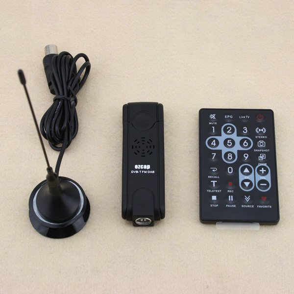 Wholesales Mini USB DVB-T Digital TV Stick Tuner Receiver Recorder with Remote Control  Free shipping