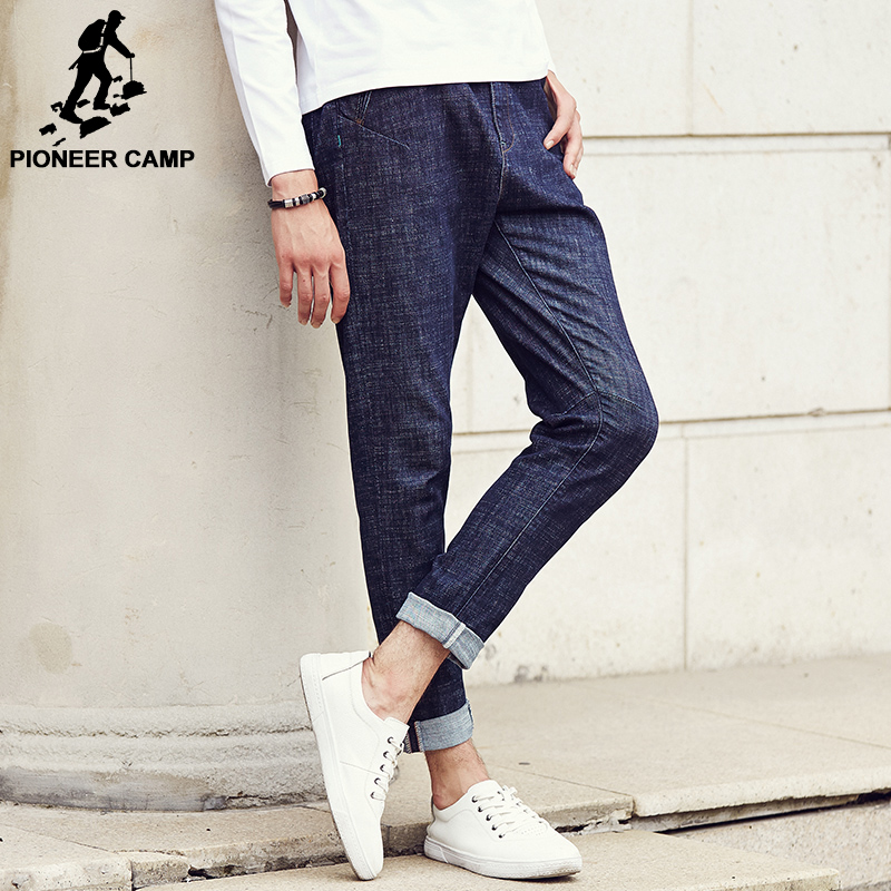 Pioneer Camp 2017 famous brand New Autumn Men Casual Jeans male Street Homme Elastic Pants Long  denim Trousers 611013 women jeans autumn new fashion high waisted boyfriend street style roll up bottom casual denim long pants sp2096