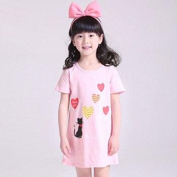e008555a1e Princesa camisones Verano de manga corta flores dibujos animados chica  pijamas niños camisón vestidos