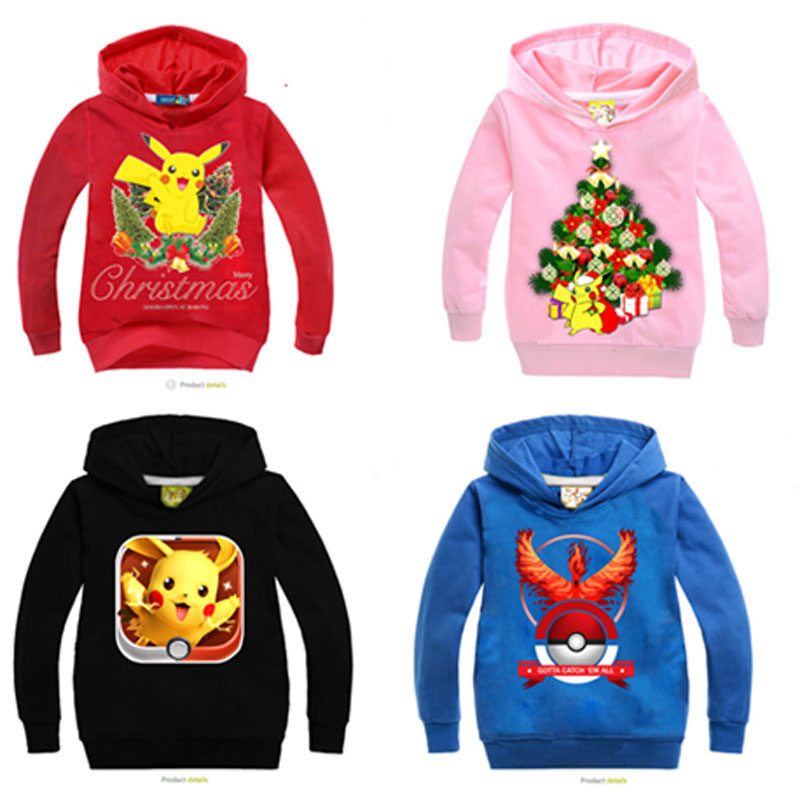 2017 Kids Boys Hoodies Casacos Girls Coat Christmas Jacket Children Pokemon Go Plus Baby Girl Clothes Casaco Sweatshirts  Roupas