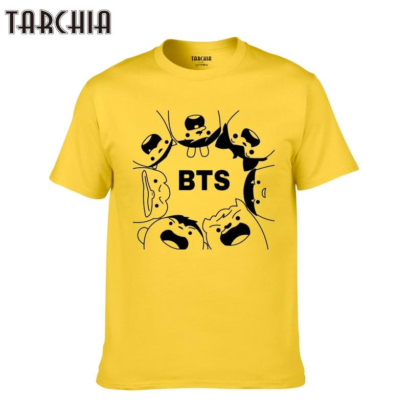TARCHIA 2018 brand bts hip hop new summer music t-shirt cotton tops tees men short sleeve boy casual homme tshirt t plus fashion