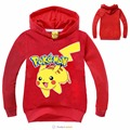 2016 spring and autumn Style POKEMON GO Boys T Shirt Cotton Long-sleeved Shirt Cartoon Girl Kids T-shirts Top Children Clothes