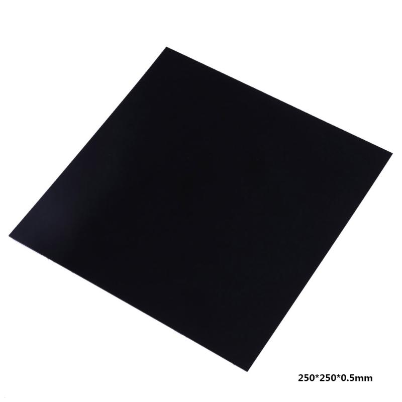 все цены на Black 250 x 250 x 0.5mm PEI Sheet for 3D Printing build surface with 468MP Adhesive Tape 3D printer parts онлайн