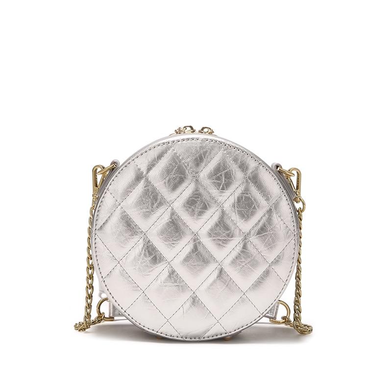 Jonbag маленькая сумка 2019 новая модель куртки с хлопковой подкладкой в Корейском стиле женская сумка Lingge круглый мешок из полиуретана на высоком уровне air один на плечо округлая сумка - 6