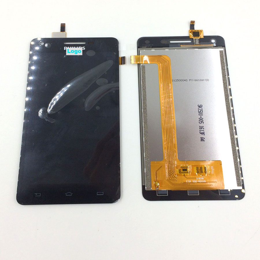 IN Stock Wisecoco Original 5.0inch For Philips Xenium V377 LCD Display Screen With Touch Panel Digitizer