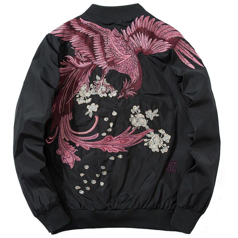 Nouvelle mode veste haute rue Phoenix broderie manteau veste décontractée Hip Hop livraison directe remise printemps Bomber vêtements grande taille