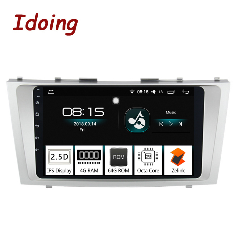 Idoing 9Car Android 8.0 Radio Multimedia Player Fit Toyota Camry 2006 2011 4G+64G Octa Core 2.5D IPS GPS Navigation Glonass