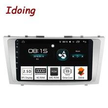 Idoing 9 «Автомобиль Android 8,0 Радио мультимедийный плеер подходящий Toyota Camry 2006-2011 4 г + 64 г Octa Core 2.5D дюйм/сек, gps навигации ГЛОНАСС