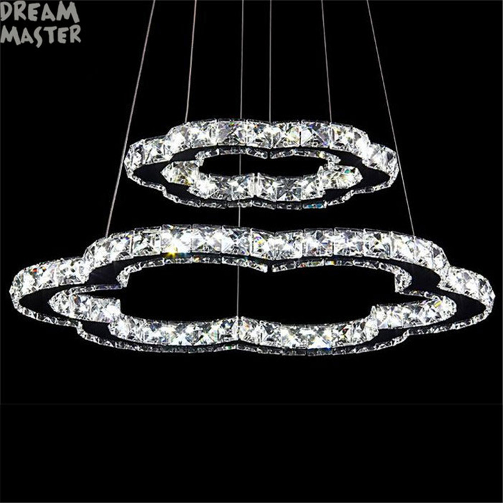 2018 Luxury Crystal Chandelier Living Room LED Lamp lustres de cristal indoor Lights Crystal Pendants led Chandeliers lighting nordic living room crystal chandelier light luxury chandeliers light lustres de cristal for living dining room hotel decor