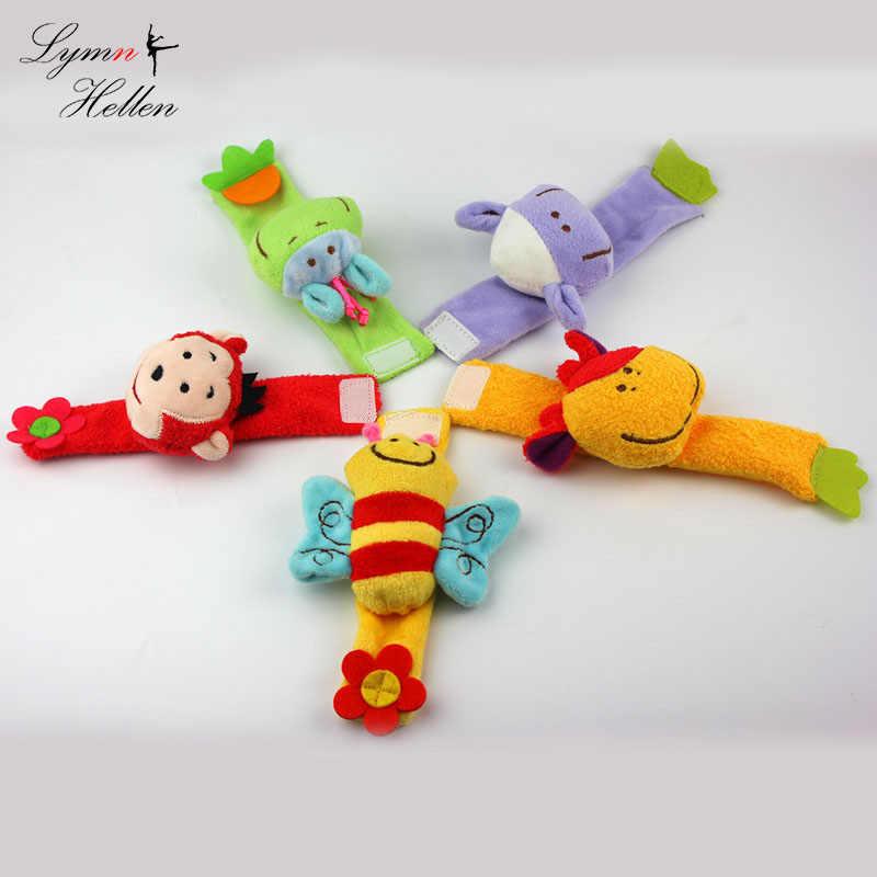 良い品質15センチぬいぐるみ人形ぬいぐるみのおもちゃ赤ちゃんガラガラ羊猿蜂牛手首鐘スーパーソフト啓蒙パズルおもちゃ
