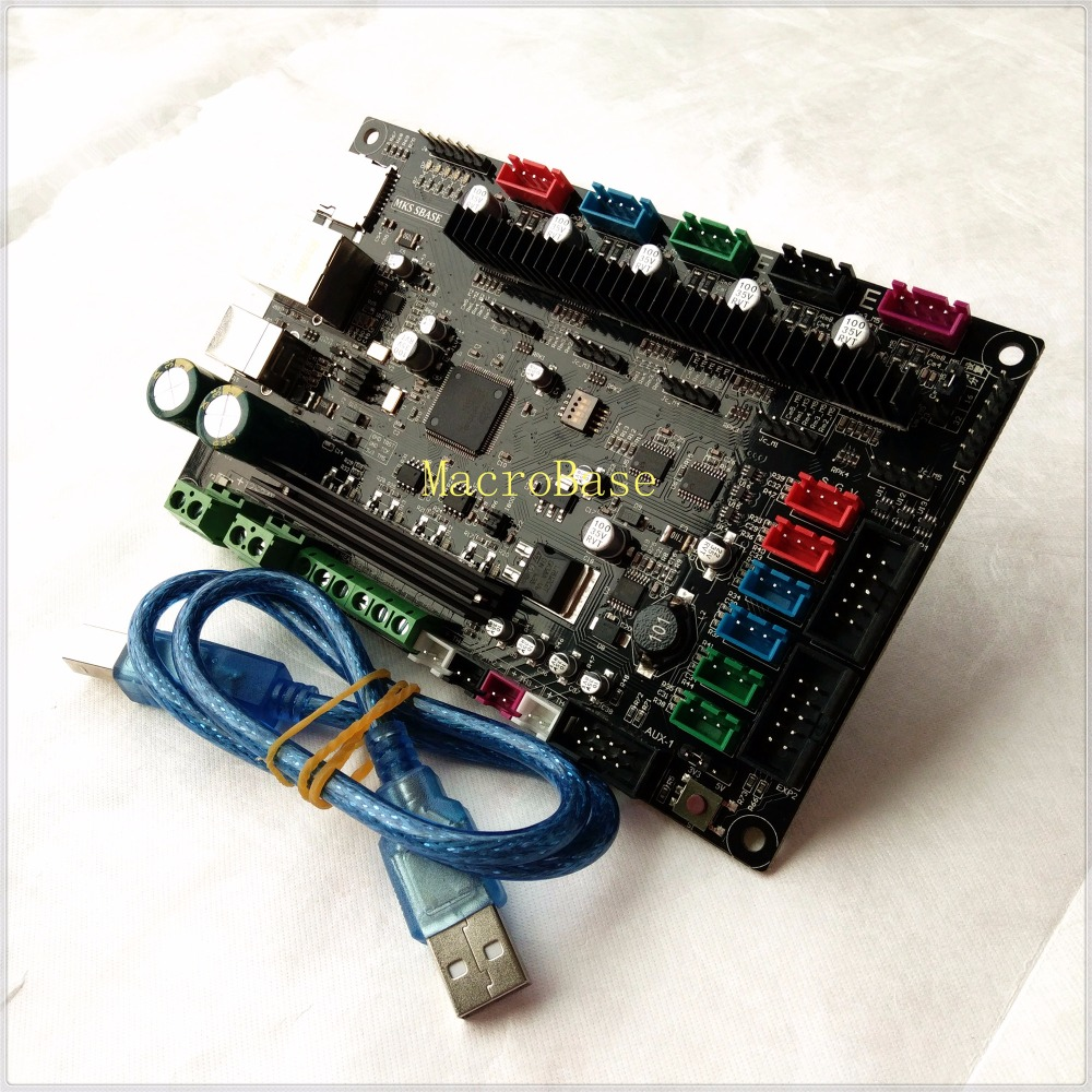 3D printer controller motherboard MKS SBASE V1 3 32 bit ARM Cortex for Smoothieware integrated Microcontroller