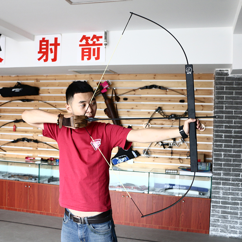 Archery outdoor survival shooting folding long bow 40/50/60lbs portable takedown hunting aluminum bow 40 50 60lbs gold folding bows archery hunting shooting straight bow and arrows aluminum alloy bow riser portable survival tools