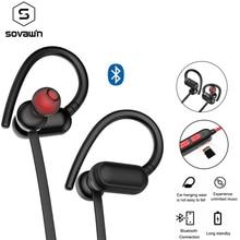 Auriculares inalámbricos con Bluetooth 5,0, audífonos IPX4 impermeables con gancho para la oreja, deportivos para correr, estéreo, inalámbricos, con micrófono