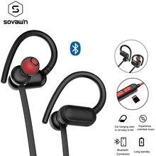 Kablosuz kulaklıklar Bluetooth 5.0 su geçirmez IPX4 kulak kancalı kulaklık spor koşu kulaklık Stereo kablosuz TF mikrofon ile