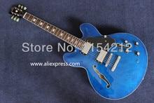 E-gitarre jazz blau fertigen mit black pearl pickguard
