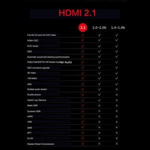 Image 2 - Hdmi互換2.1ケーブル8 18k @ 60hz 4 18k @ 120 60hz 48 5gbpsアークビデオコードアンプテレビ